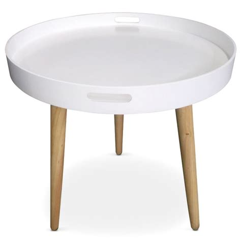 table d appoint scandinave table d appoint ronde scandinave blanc pas cher