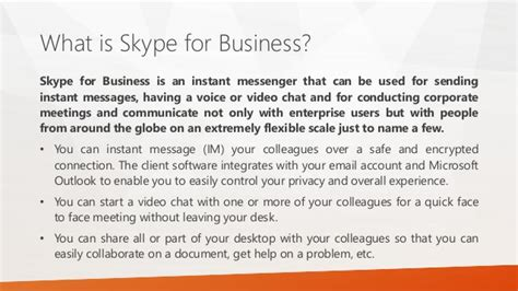 collaboration with skype for business and outlook 2015