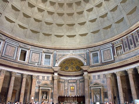 cupola pantheon roma concrete