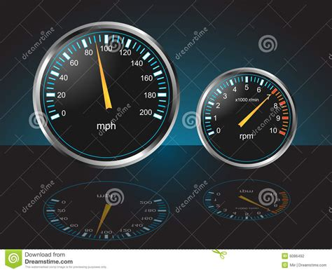 Automobile Dashboard Gauges Stock Photography