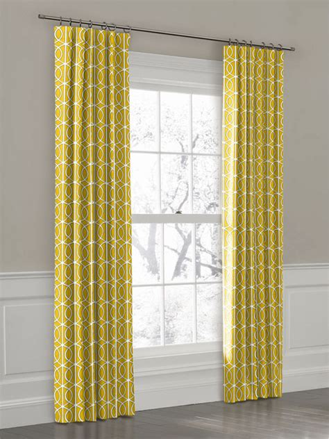 Yellow And White Curtains by Yellow Ring Top Drapery Panel Curtains New York By
