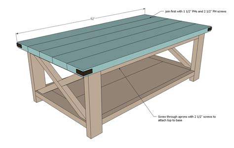rustik 2x4 dimensions white rustic x coffee table diy projects