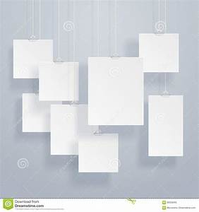 blank hanging photo frames or poster templates with drop With wall templates for hanging pictures