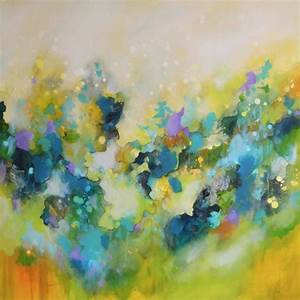 Large, Green, Yellow, Abstract, Painting, Original, Modern