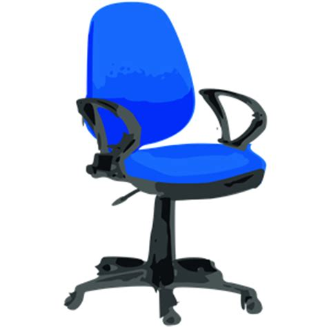 desk chair blue with wheels clipart cliparts of desk
