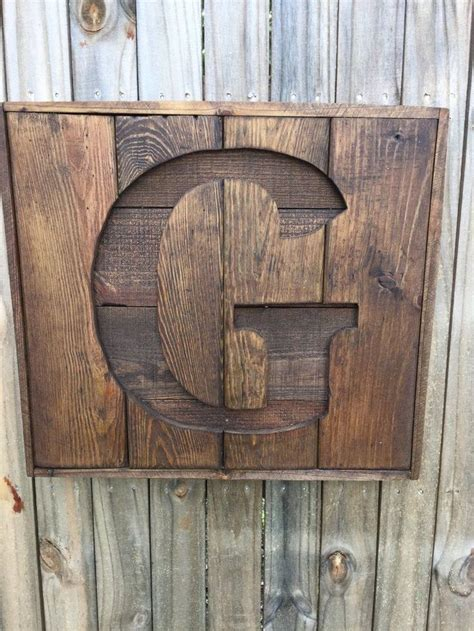 custom recycled pallet initial  sign wooden letter sign monogram sign gift  home rustic