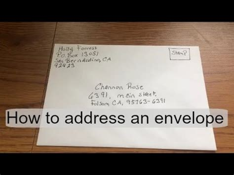 how to address an envelope how to address fill out an envelope youtube