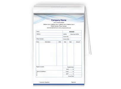 hotel bill pattern bill book design templates bill book formats