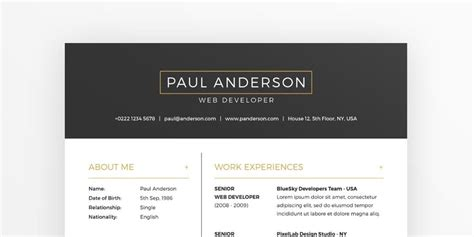ultimate collection   resume templates css author