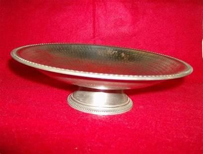 Brass Hammered Bowl Pedestal Fruit India Menagerie