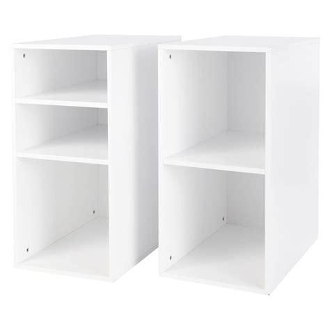 caissons de bureau 2 caissons de bureau en bois blanc h 73 cm desk maisons