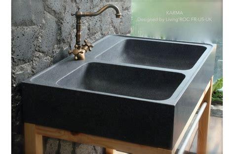 cuisine en granit 90x60 évier de cuisine en granit véritable karma