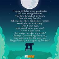 Happy Birthday Husband Poems