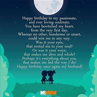 Happy Birthday Husband Poems