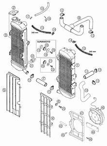 Ktm Fiche Finder Cooling System 640 Lc4 Spare Parts For The Ktm 640 Lc4 Supermoto Orange  Aus