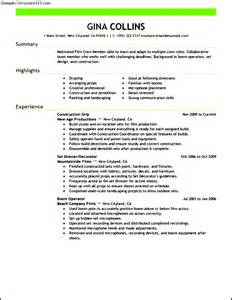 Free Resume Format For Media by Media Production Resume Sle Sle Templates