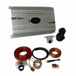 Lanzar 4000 Watt 4 Channel Bridgeable Car Audio Amplifier   0 Gauge Wiring Kit 842372112109