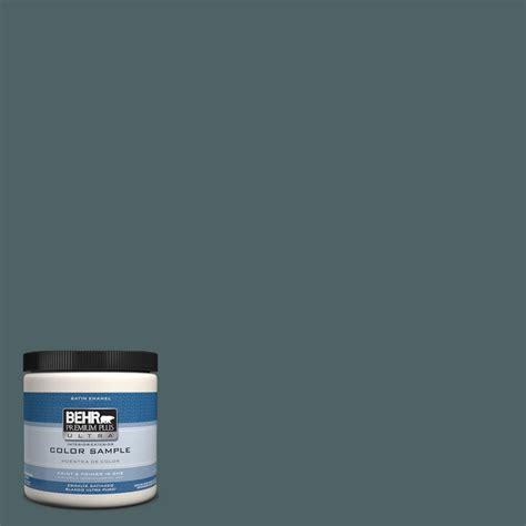 behr premium plus ultra 8 oz ppu12 20 underwater color interior exterior satin enamel paint