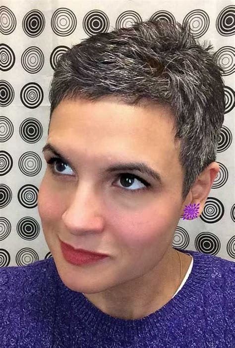 pixie hairstyles  gray hair pixie cut
