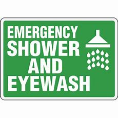 Ecofriendly Signs  Emergency Shower And Eyewash From Emedcocom, Stock Items Ship Today