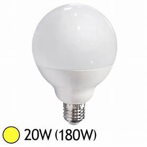 Ampoule Led E27 20w : ampoule led 20w 180w e27 globe blanc chaud 3000 k led ~ Edinachiropracticcenter.com Idées de Décoration