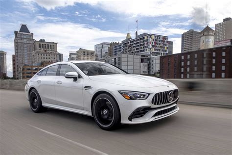 It's been available overseas since 2018, but it's never been sold in america before. 2021 Mercedes-AMG GT 43 4-Door Coupe is the New Bargain Trim Level - Motor Illustrated
