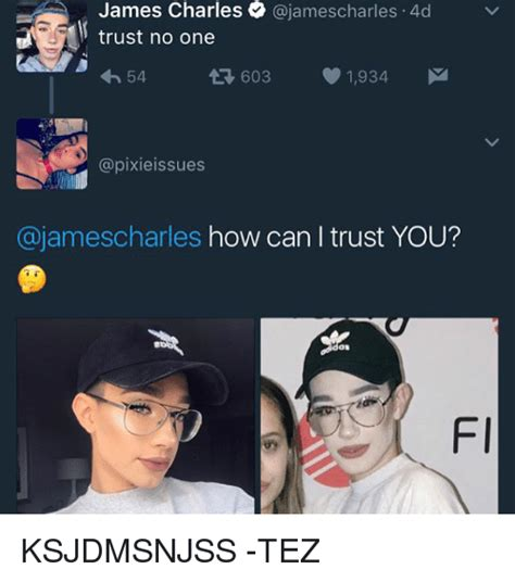 James Charles Memes - james charles charles 4d trust no one 54 03 1934 m t ajamescharles how can i trust you fi