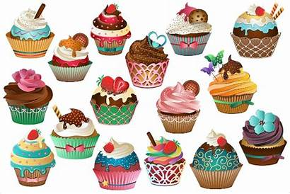 Cupcake Vector Clipart Background Transparent Illustrations Cupcakes