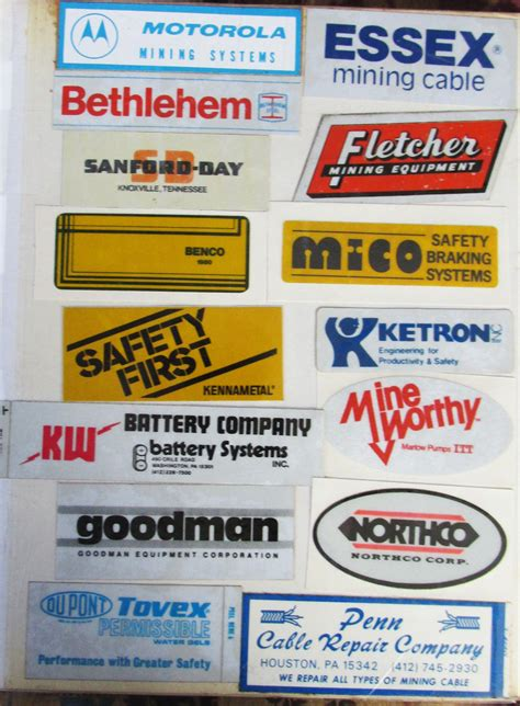 stickers and stickers coal mining mining equipment