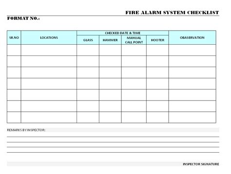 alarm log book template osha drill checklist related keywords osha drill checklist keywords