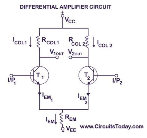 differential amplifier circuit tutorial  bjt