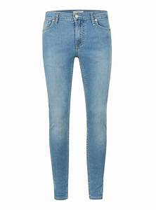 Light Wash Blue Spray On Skinny Jeans - TOPMAN