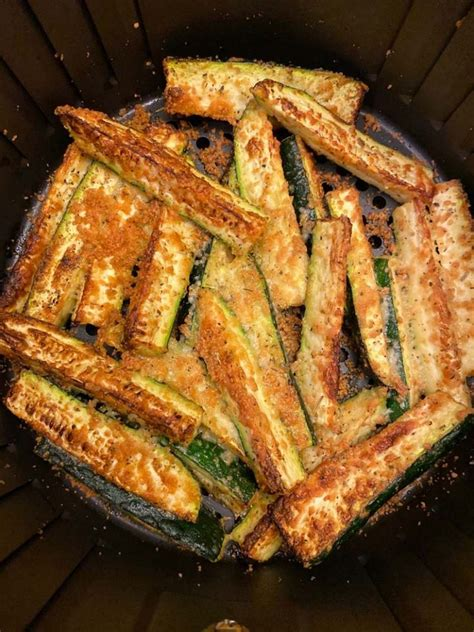 zucchini air fryer cheese keto fries parmesan recipe breading carb low recipes bread roasted