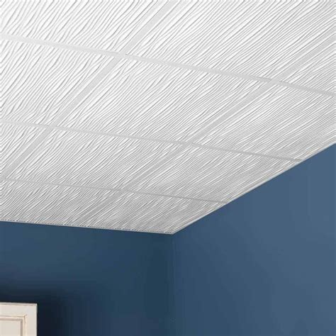 Ceiling Tiles by Genesis Ceiling Tile 2x2 Drifts Tile In White
