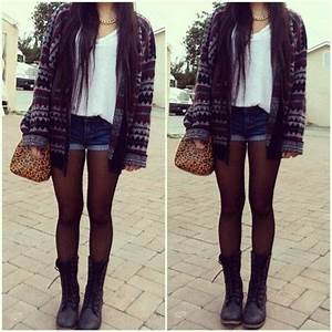 Cute tumblr outfits - Google Search | shorts and crop tops | Pinterest | Combat Boot Tights and ...