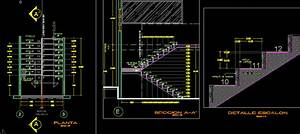 Stair Details DWG Section for AutoCAD • DesignsCAD