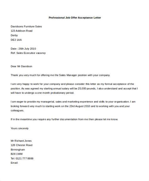 sle offer acceptance letter 9 download free sle job offer acceptance letter 7 free documents in doc