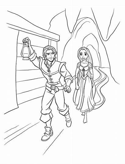 Flynn Coloring Escape Rapunzel Tied Rapunzels Pages