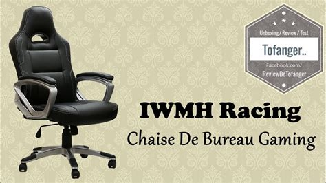 chaise de bureau racing iwmh racing chaise de bureau gaming top