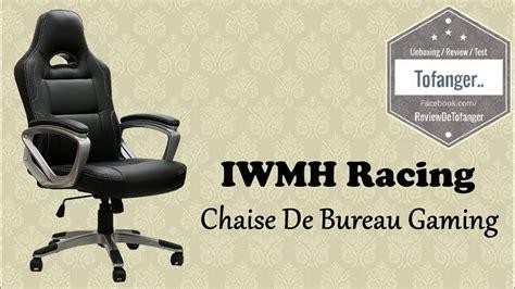 chaise de bureau gaming iwmh racing chaise de bureau gaming top