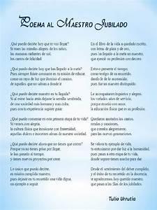 Poema Al Maestro Jubilado