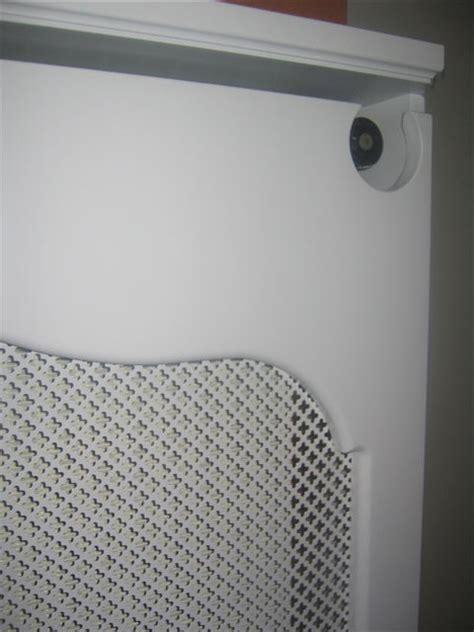 meuble de cuisine exterieur cache radiateur laqué avec tôle perforée 2 stéphane