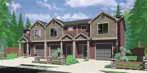 Duplex house plans, two unit home built as a single family