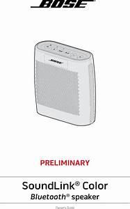 Bose 415859 Bluetooth Speaker User Manual