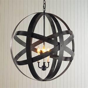 Metal strap globe lantern large outdoor hanging lights