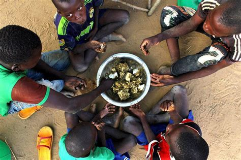 world hunger   rise driven  conflict climate