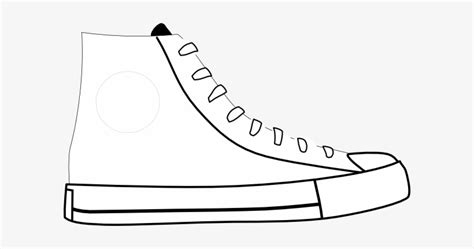 shoes clipart black  white pete  cat shoe template