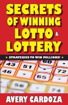 secrets  winning lotto lottery book  avery cardoza