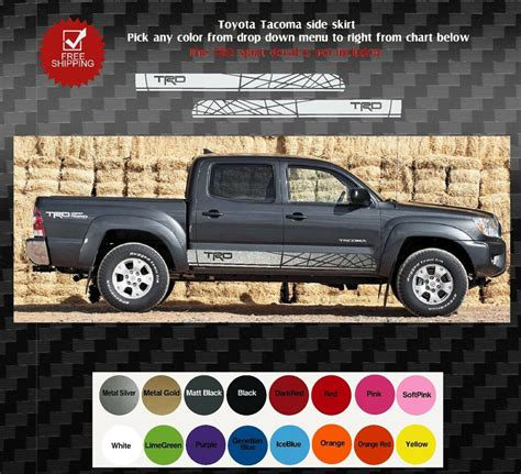 Ebay Toyota Tacoma by Toyota Tacoma Truck Bed Side Decals Graphics Decals 2005