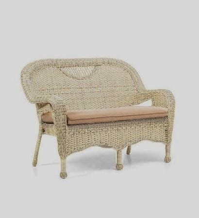 White Wicker Settee by Lovely Whatevers